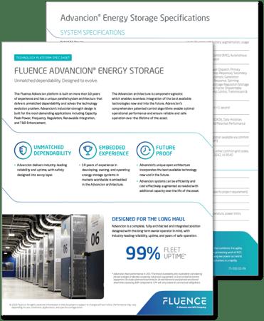 Tech Spec Advancion Energy Storage